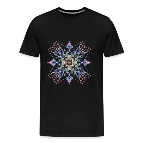 Mandala Blume Pastell Kunst - Männer Premium T-Shirt