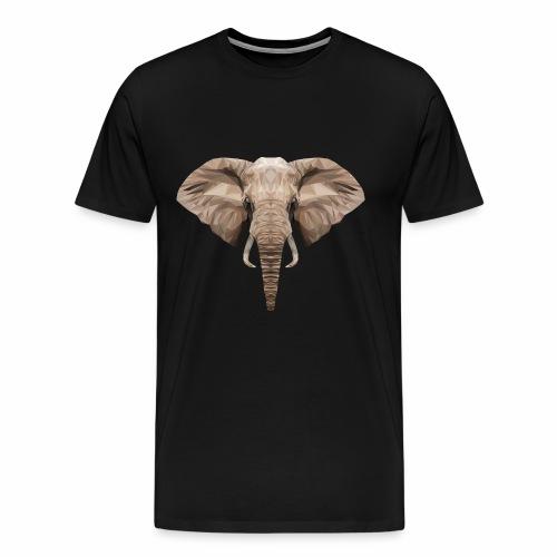 Low Poly Elephant - Maglietta Premium da uomo