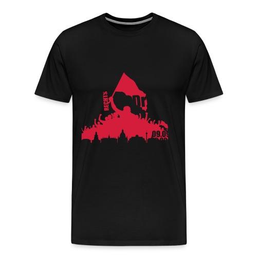 Dresden Demo weiss rot - Männer Premium T-Shirt