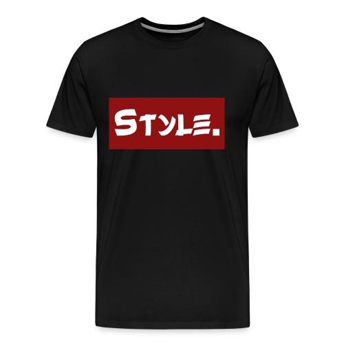 Style. Trendiger Schriftzug - Männer Premium T-Shirt