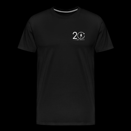 LOGO 20minuti white - Maglietta Premium da uomo