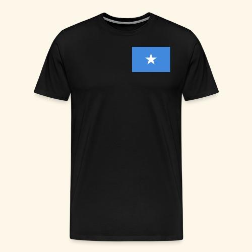 Somalia Flag - Herre premium T-shirt