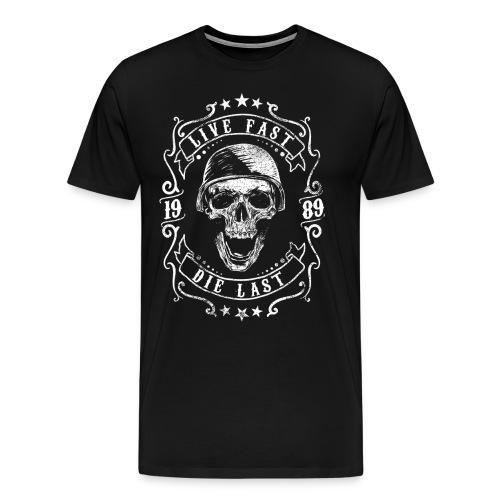 Live Fast Die Last - White - Men's Premium T-Shirt