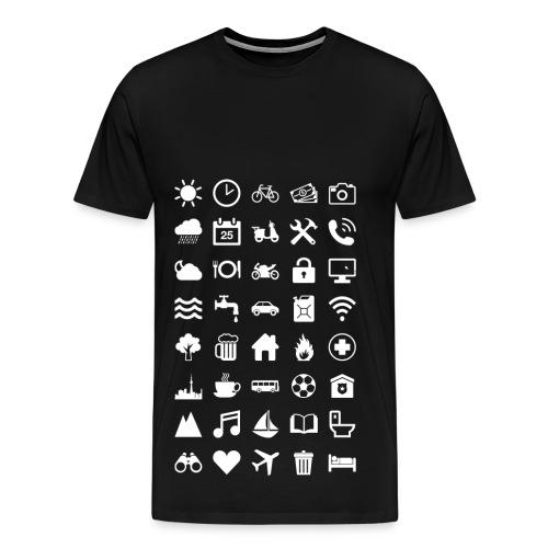Travel Icons (white) - Männer Premium T-Shirt