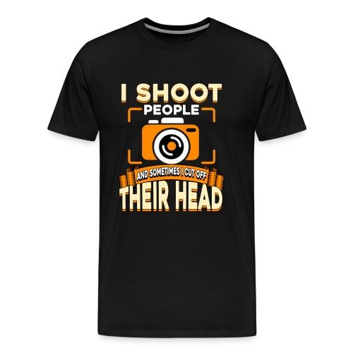 Fotografiere Leute Kopf abschneiden - Männer Premium T-Shirt