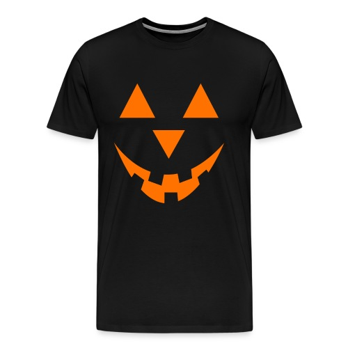 Kürbis Gesicht Halloween Orange - Männer Premium T-Shirt