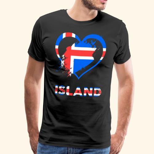 Das Herz von Island - Männer Premium T-Shirt