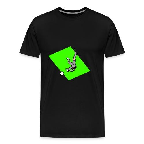 portiere grigio (sfondo) - Maglietta Premium da uomo