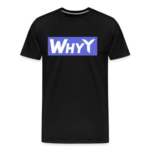 Block Blue | WhyY - Men's Premium T-Shirt