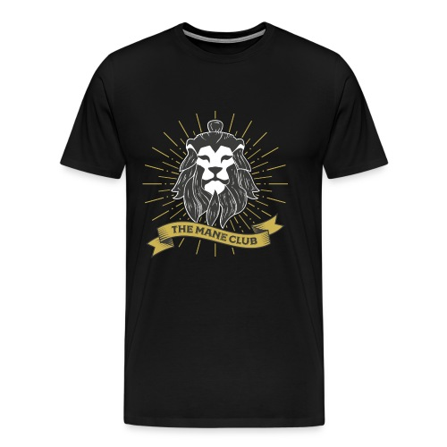 The Man / Mane Club - Der Mann / Mähne Club Retro - Männer Premium T-Shirt
