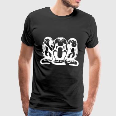 3 Apinat - Miesten premium t-paita