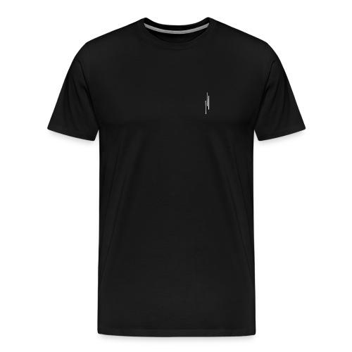 Upwards 3Lines Design WHITE - Men's Premium T-Shirt