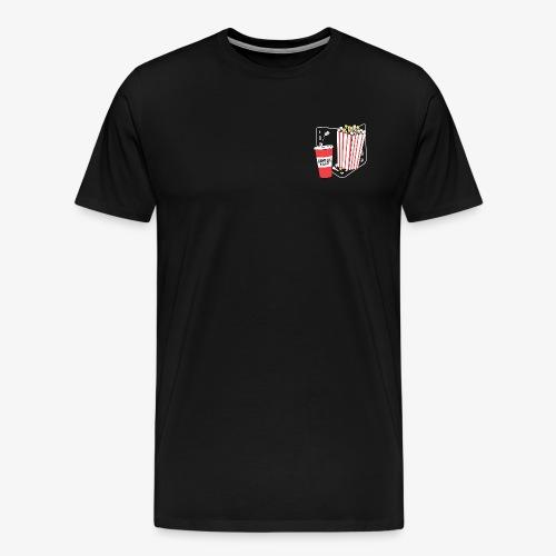 Popcorn teeth (dark backgroud) + pocket - Camiseta premium hombre