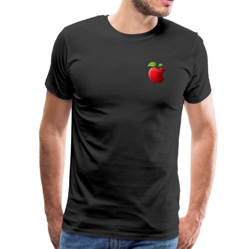 Symbol roter Apfel mit 2 Blätter glänzend - Männer Premium T-Shirt
