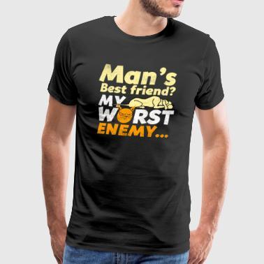 Cats vs Dogs - Premium T-skjorte for menn