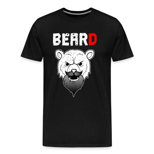 Bär Bart Beard Mann männlich Barbier Geschenk - Männer Premium T-Shirt