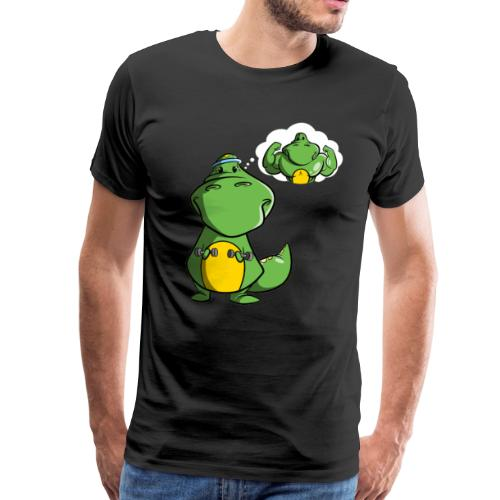 Dinosaurier mit Kurzhantel - Männer Premium T-Shirt