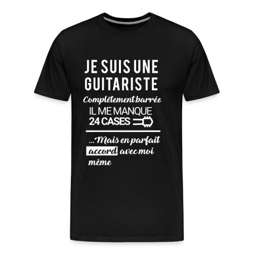 tshirt femme je suis une guitariste - T-shirt Premium Homme