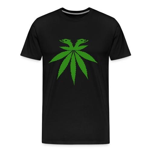 Doppelkopfadler auf einer grünen Flugreise - Männer Premium T-Shirt