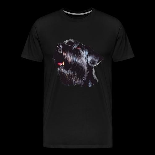 Schnauzerportrait - Männer Premium T-Shirt