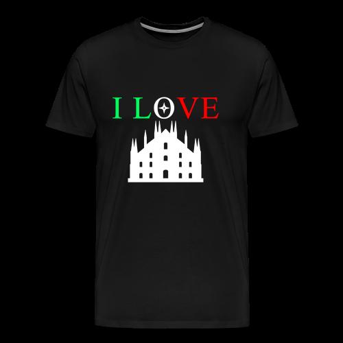 I LOVE MILANO - Maglietta Premium da uomo