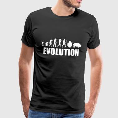 el desarrollo de la evolución de cerdo guarro - Camiseta premium hombre