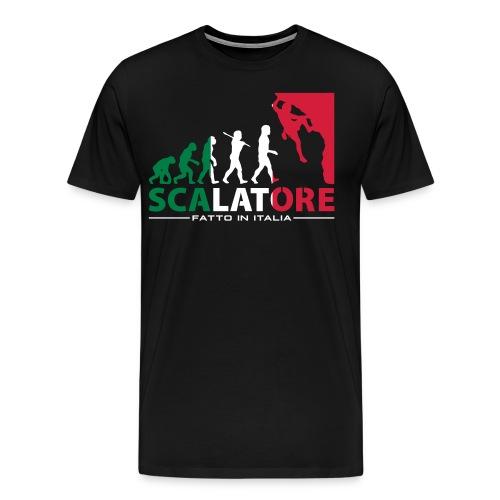 ROCK CLIMBING EVOLUTION SCALATORE FATTO IN ITALIA - Men's Premium T-Shirt