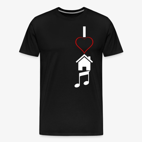 Ich liebe House Musik - Männer Premium T-Shirt