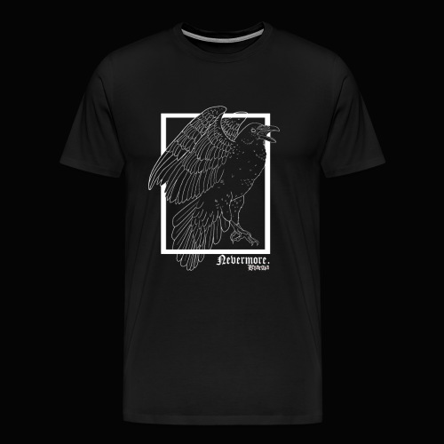 Nevermore in White - Camiseta premium hombre