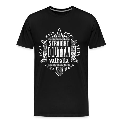 Straight outta Valhalla - Viking Shirt - Männer Premium T-Shirt