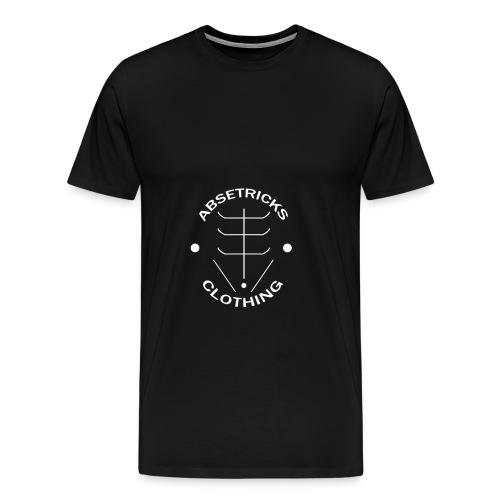 Large Classic Absetricks Logo White - Men's Premium T-Shirt