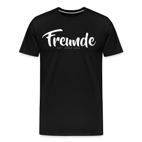 FREUNDE BASIC BLACK - Männer Premium T-Shirt