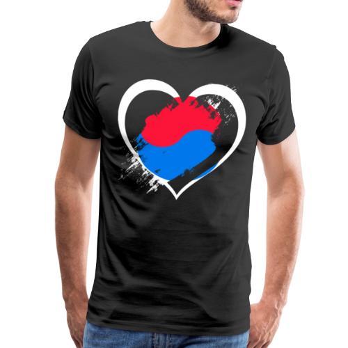 Herz Südkorea - Männer Premium T-Shirt
