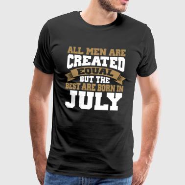 Mies Syntymäaika heinäkuu - Miesten premium t-paita