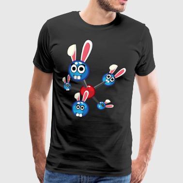 Fisica Atomica Easter Bunny Bunny regalo di Pasqua - Maglietta Premium da uomo