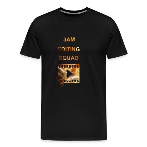 3AM EDITING SQUAD - Miesten premium t-paita