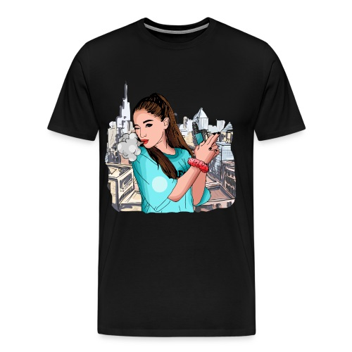 Vapegirl dampft in cooler Pose / Vaping / Vape - Männer Premium T-Shirt
