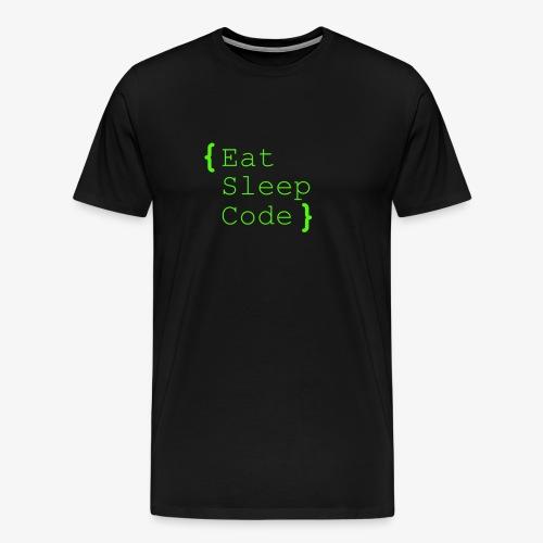 eat sleep code - Männer Premium T-Shirt