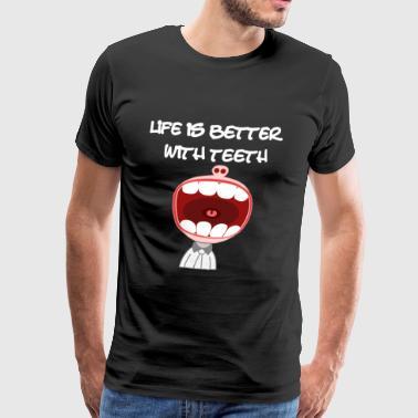 Tannlege Dental tenner Dental Care Dental - Premium T-skjorte for menn