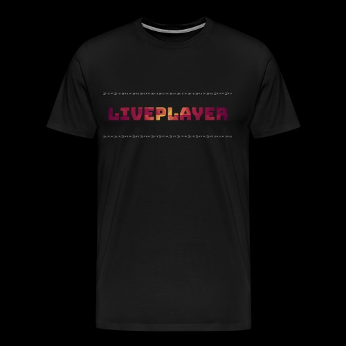 LivePlayer V.7 Weiße Umrandung - Männer Premium T-Shirt