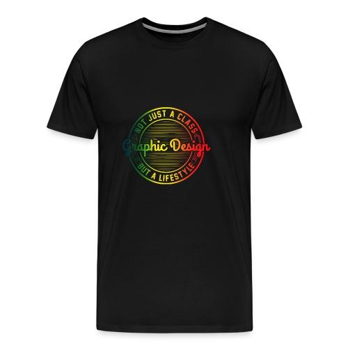 Graphic Design Farbverlauf - Männer Premium T-Shirt