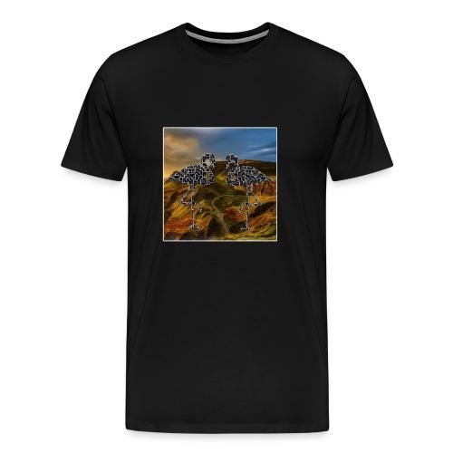 Flamingo Halluzination - Männer Premium T-Shirt