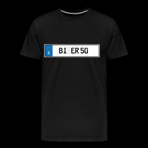 Kennzeichen Bier - Männer Premium T-Shirt