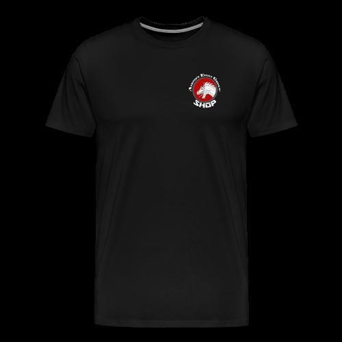 SHOP LOGO MIT SCHRIFT grau - Männer Premium T-Shirt