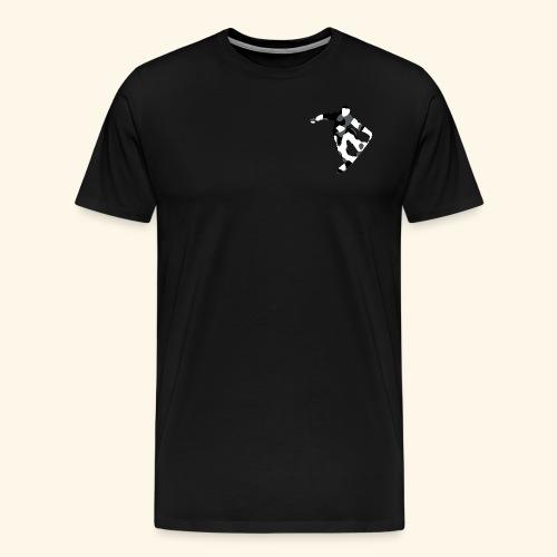 camouflage schwarz snowboarda Von Nuke - Männer Premium T-Shirt