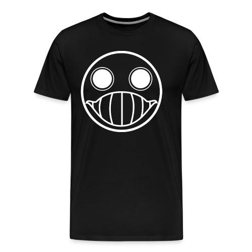 Crazy Cringe Smiley (white) - Männer Premium T-Shirt