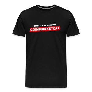 MY FAVORITE WEBSITE? COINMARKETCAP - Men's Premium T-Shirt