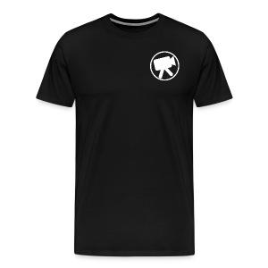 logo wit videotijd - Mannen Premium T-shirt