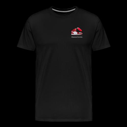 Sneaker Custom Logo /white text - Männer Premium T-Shirt