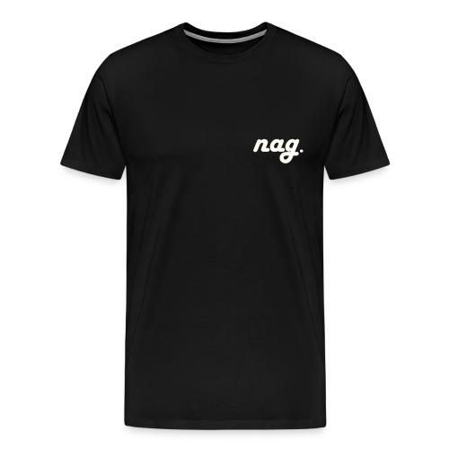 nag Classic S18 white/gold - Männer Premium T-Shirt